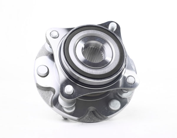 Overbearing assembly front wheel bearing unit